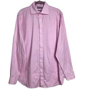 MichaelKors PinkPlaid SlimFit ButtonUp Dress Shirt